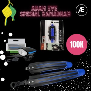 Harga adam eve gears paket accessories sepeda spesial ramadhan    HARGALOKA.COM
