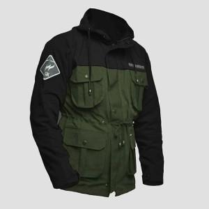 Harga jaket pria motor parka bahan canvas warna army bankers | HARGALOKA.COM