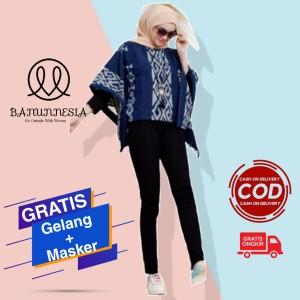 Harga baju blouse tenun wanita etnik troso jepara blouse batwing tenun   | HARGALOKA.COM