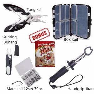 Harga paket peralatan mancing tang gunting pancing box kail fish   HARGALOKA.COM