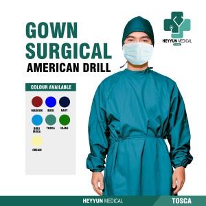 Harga apd gown surgical baju bedah operasi jubah medis bahan american drill   | HARGALOKA.COM