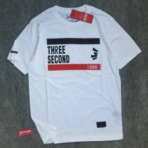 Harga kaos 3second kaos distro three second baju pria threesecond part 2   putih | HARGALOKA.COM