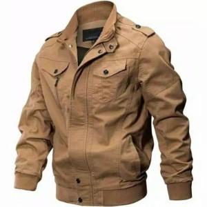 Harga jaket pria motor casual militer cotton drill warna cream bankers | HARGALOKA.COM