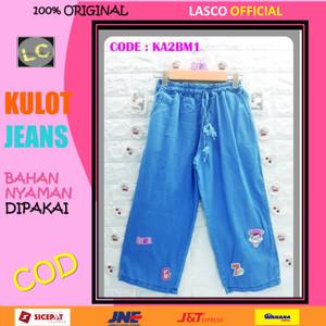 Harga 06 celana anak perempuan kulot jeans denim bm 11 12 thn bordir   | HARGALOKA.COM