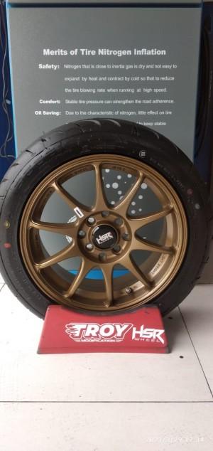Harga velg mobil murah hsr indy boroko ring 15 lebar 65 et42 untuk brio   HARGALOKA.COM