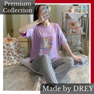 Harga baju tidur wanita set motif karakter kartun piyama karakter wanita   rabbit | HARGALOKA.COM