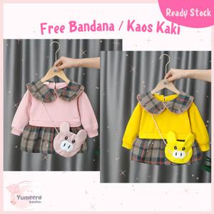 Harga baju dress gaun pesta bayi baby anak perempuan usia 3 bln 3 thn c   yellow bear bag 70 3 7 bln | HARGALOKA.COM