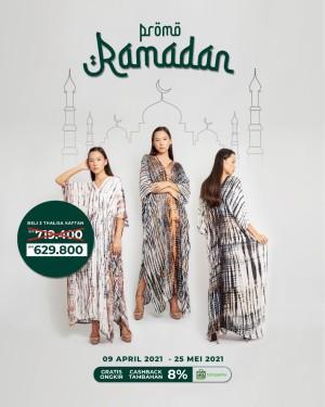 Harga promo ramadhan   beli 3 thalisa kaftan lebih | HARGALOKA.COM