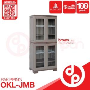 Harga rak piring lemari plastik 2 pintu olymplast okl jumbo   odenpan | HARGALOKA.COM