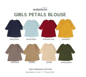 Harga ardenleon   raya girls petals blouse baju muslim anak perempuan   cloud blue m 1 2y | HARGALOKA.COM