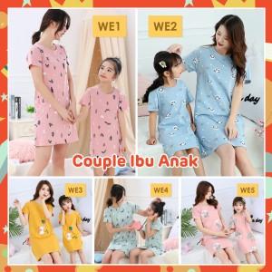 Harga dress anak ibu perempuan import   baju tidur kartun motif wanita anak   we1   pink tupa | HARGALOKA.COM