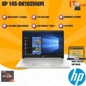 Harga laptop murah hp 14s dk1025wm ryzen3 3250u 4gb 1tb hdd vega 3 14 34 | HARGALOKA.COM