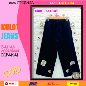 Harga 07 celana anak perempuan kulot jeans denim hitam 8   10 th gbr   no 1 | HARGALOKA.COM