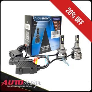 Harga lampu led mobil novsight n38 headlight dan foglight mobil   putih 6500k | HARGALOKA.COM