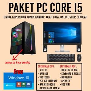 Harga lengkap komputer rakitan intel i5 ram 8gb ssd hdd kantor admin | HARGALOKA.COM