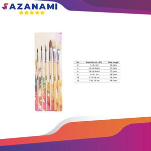 Harga V Tec Artist Brush Vt 7718 Set 6 Kuas Lukis Set 6 Katalog.or.id