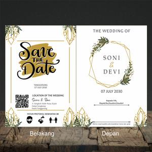 Katalog Blangko Kartu Undangan Pernikahan Murah Series Bc 055 Urat Kayu Katalog.or.id