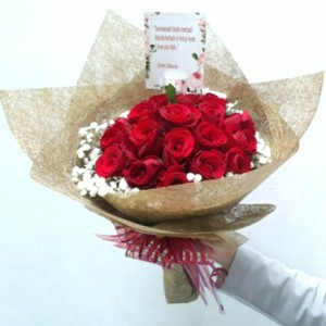 Katalog Hand Bouquet Buket Bunga Mawar Merah Segar Katalog.or.id