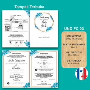 Harga Undangan Pernikahan Cantik Biru Dongker Katalog.or.id