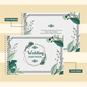 Harga Buku Tamu Nikah Wedding Guest Book Custom Isi 200 Baris 160 Kotak Katalog.or.id