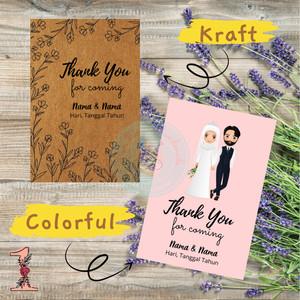 Harga Kartu Ucapan Terima Kasih Full Colour Untuk Souvenir Nikah Katalog.or.id