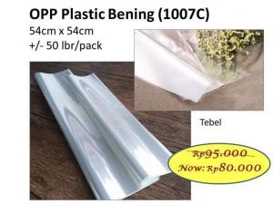 Harga opp plastik bening tebal lembar wrap bunga wrapping barang   HARGALOKA.COM