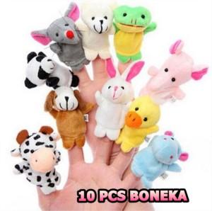 Harga 10 pcs boneka tangan finger family animal puppet binatang mainan   HARGALOKA.COM