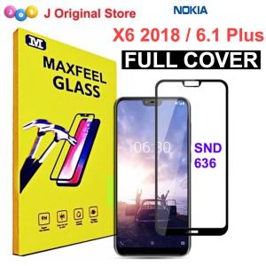 Harga maxfeel tempered glass nokia x6 2018 full curved premium | HARGALOKA.COM