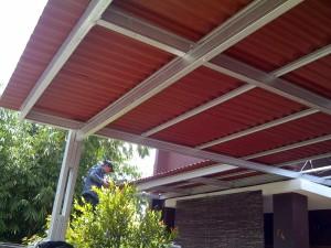 Harga kanopi baja ringan atap gogreen di | HARGALOKA.COM