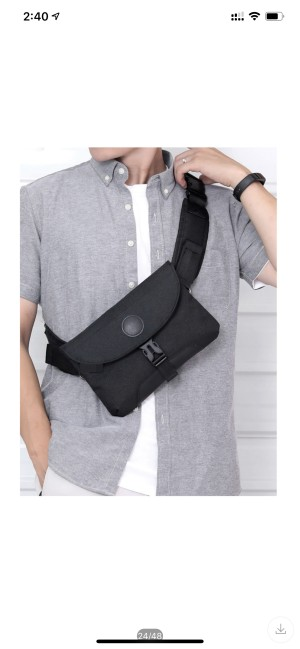 Harga tas sling pria waist bag pria modis dan baru aman dari maling   | HARGALOKA.COM