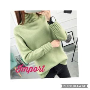Harga sweater kaos turtleneck wanita type 1 | HARGALOKA.COM