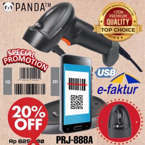 Harga 2d barcode scanner e faktur panda prj 888a auto stand qr code efaktur | HARGALOKA.COM
