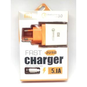 Harga fast charger 3 usb redmi xiaomi 5 1a | HARGALOKA.COM