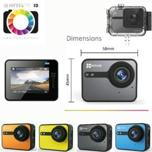 Harga ezviz s1c action camera full hd touchscreen lcd kamera digital     HARGALOKA.COM
