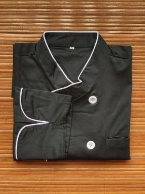 Harga chef jacket baju koki tangan panjang hitam | HARGALOKA.COM