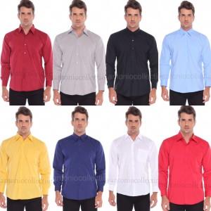 Harga kemeja pria polos lengan panjang baju lapangan seragam kantor   putih | HARGALOKA.COM