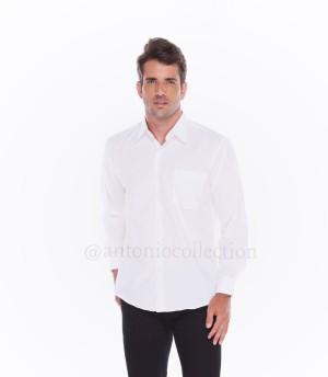 Harga kemeja pria putih polos lengan panjang seragam baju lapangan | HARGALOKA.COM