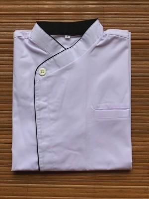 Harga chef jacket baju koki lengan pendek buttonless putih hitam | HARGALOKA.COM