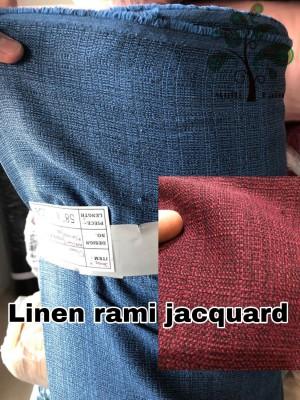 Harga bahan kain rami linen jaquard polyester polos meteran grosir limited   2301 | HARGALOKA.COM