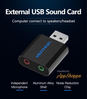 Harga vention external mini usb sound card usb 3 5mm jack headphone | HARGALOKA.COM