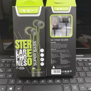 Harga headset handsfre stereo oppo f 024 super bass best | HARGALOKA.COM