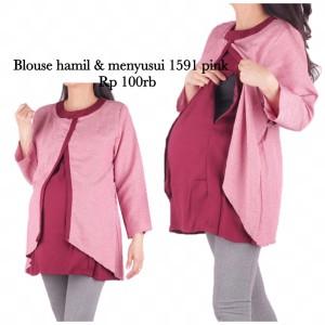 Harga baju hamil blus menyusui 1591 | HARGALOKA.COM
