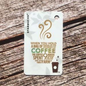 Harga a bag of coffee starbucks card mini china kartu white gift   HARGALOKA.COM