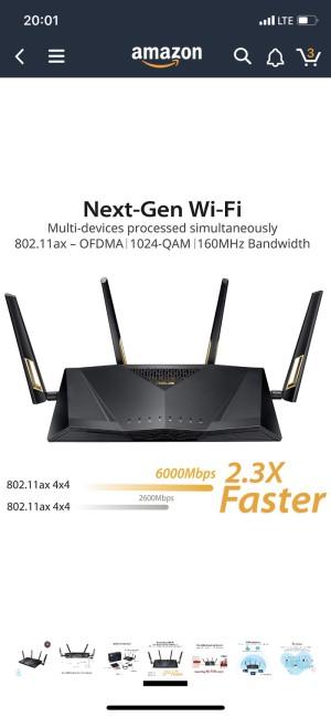 Harga asus rt ax88u wireless 802 11 ax wifi 6 dual band wi fi ax6000m   HARGALOKA.COM