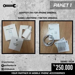 Harga paket 1 adapter amp kabel lightning | HARGALOKA.COM