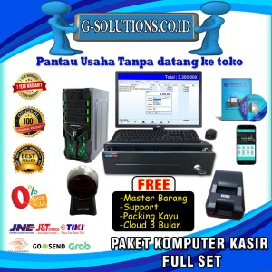 Harga paket komputer kasir full set program pos software | HARGALOKA.COM