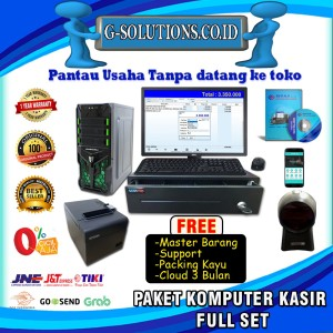 Harga paket komputer kasir full set program pos software minimarket | HARGALOKA.COM