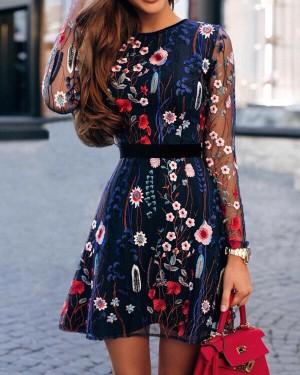 Harga dress import hong kong merk cbr mini embroidery size m asian l | HARGALOKA.COM