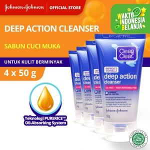 Harga clean amp clear deep action cleanser 50 gr 4pcs   HARGALOKA.COM