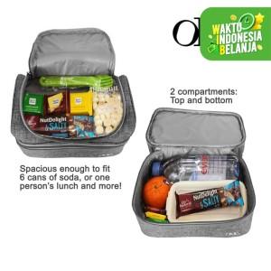 Harga lunch cooler bag tas bekal makanan anak tahan panas dingin 2 susun   HARGALOKA.COM